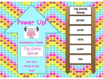 Power Up! Vocabulary Words with Writing - Tap (verb) Words - Week 39/Week 40