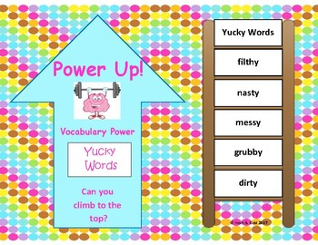 Power Up! Vocabulary Words with Writing - Yucky Words - Week 13/Week 14