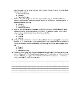 Power Verbs Assessment