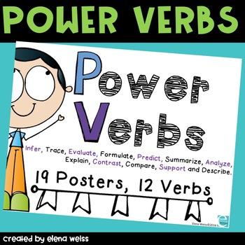 ELA POSTERS: Power Verbs