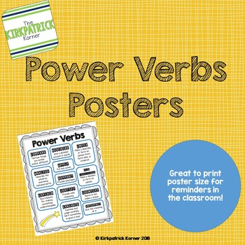 Power Verbs Posters