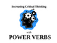 Power Verbs Powerpoint