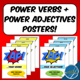 Action Verbs and Descriptive Adjectives Poster Bundle