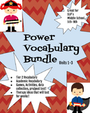 Middle School Speech Power Vocabulary Units 1-3 Bundle (tier 2 vocabulary)