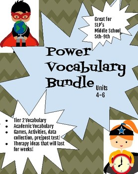 Middle School Power Vocabulary Units 4-6 Bundle