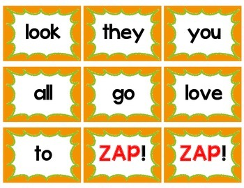 Sight Word Flash Card Game