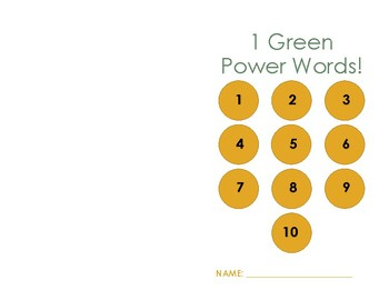 Power Word Student Booklet - 1 Green