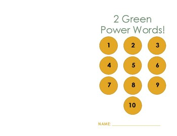 Power Word Student Booklet - 2 Green