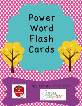 Power Word Vocabulary Flash Cards