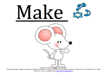 Power Words 16 Core Vocabulary Video Series - Part 4 (COME, MAKE, SEE, FEEL)