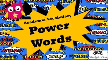 Power Words Academic Language Vocabulary