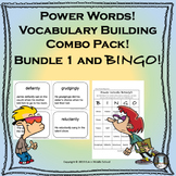 Power Words Combo Pack Vocabulary Building Set 1 and BINGO