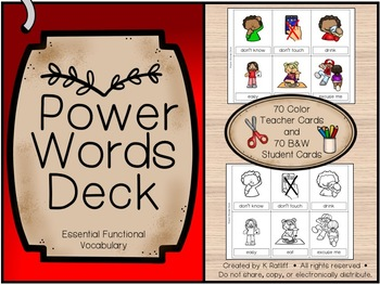 Power Words Deck:  Essential Functional Vocabulary