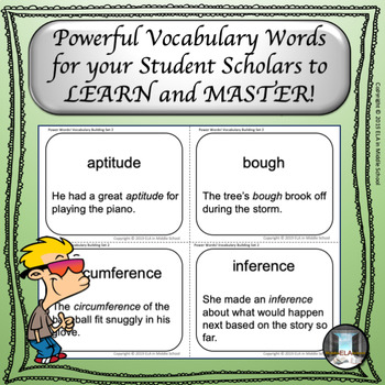 Power Words! Vocabulary Building Flashcards Set 2