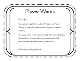 Power Words for Writing- Bulletin Board