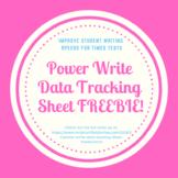 Power Write Data Tracking Sheet FREEBIE!