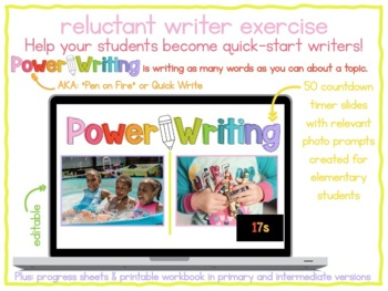 Power Writing Countdown Timer Slides Bundle