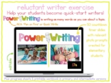 Power Writing Countdown Timer Slides Bundle