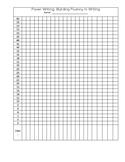 Power Writing Fluency Chart