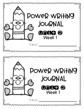 Power Writing Jounral Unit 2 First Grade 1 line