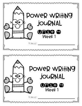 Power Writing Journal Unit 4 First Grade 1 line