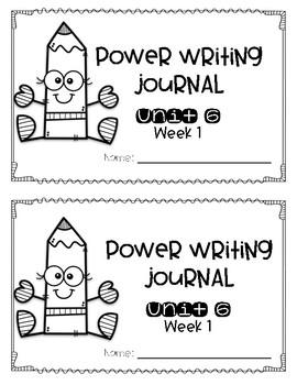 Power Writing Journal Unit 6 First Grade 1 line