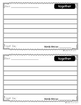 Power Writing Journal Unit 6 Second Grade 1 line