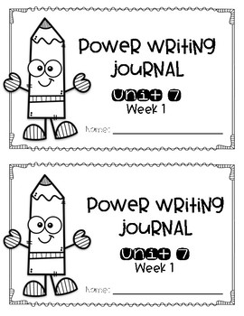 Power Writing Journal Unit 7 First Grade 1 line