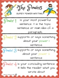 Power Writing Poster and Example