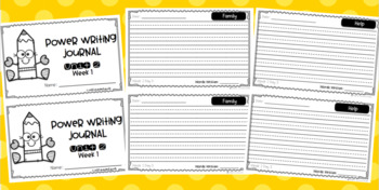 Power Writing Second Grade Bundle (3 Lines)