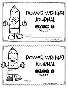 Power Writing Second Grade Journal Unit 1 (HWT)