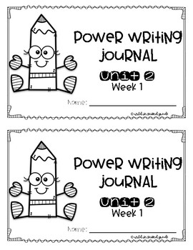 Power Writing Second Grade Journal Unit 2 (HWT)
