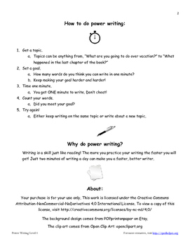 Power Writing Workbook