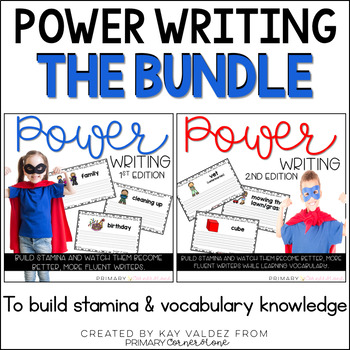 Daily Writing Warm Up-Writing Prompts-Power Writing-THE BUNDLE