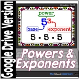 Power and Exponents Task Cards | Digital Version | Distanc