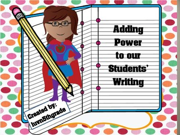Power in our Students' writing