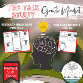 """Ted Talk: """"Power of Belief Mindset"""" Growth Mindset Activity- Great for Sub Plans"""