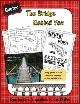 Power of Bridge Behind You - Inspirational Quote