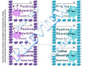 Power of Persuasion Hole Punch Card System