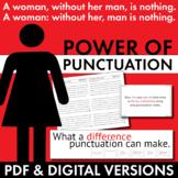 Punctuation Lecture & Editing Handout, Fun Punctuation Grammar Activity, CCSS