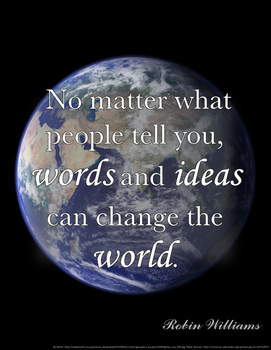 Power of Words - Inspirational Quote - CHANGE the World