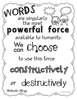 Power of Words - Inspirational Quote - Constructive or Des