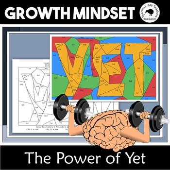 Power of Yet & Growth Mindset Multiplication Mosaic