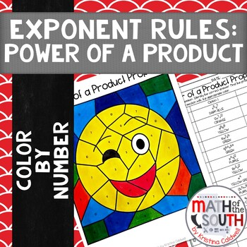 Power of a Product Property Exponent Rules Color by Number 8.EE.1