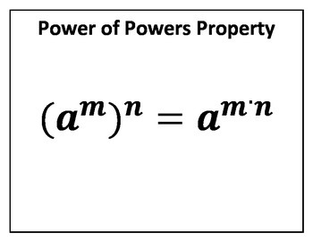 Power of Powers Property Concept Clue