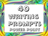 Power point: 40 writing prompts and exercises