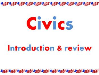 Power point: Civics introduction or  review