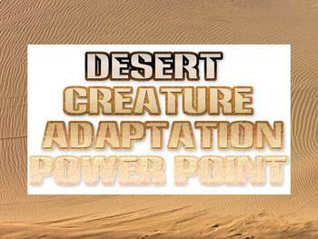 Power point: Desert Creature Adaptation