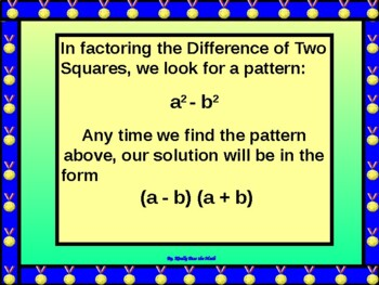 Algebra Power point:  Factoring Special Polynomials with GUIDED NOTES