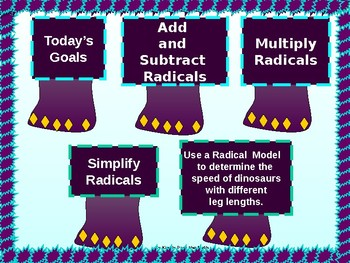 Algebra Power point:  Operations with Radical Expressions and GUIDED NOTES